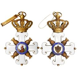 San Marino, gilt silver military decoration, Order of San Marino (1859), Grand Cross rank.