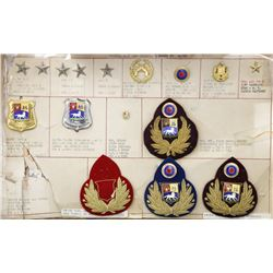 Venezuela, set of samples of Army insignia and Secret Service badges (16 pieces in all), including m
