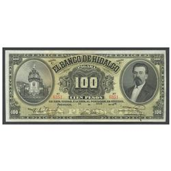 Mexico, El Banco de Hidalgo, 100 pesos, 21-4-1914, series C, serial 6351.