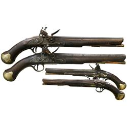 Pair of British Royal Navy boarding pistols, ca. 1805.