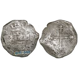 Mexico City, Mexico, cob 8 reales, Philip III, assayer D.