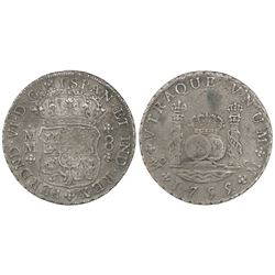 Mexico City, Mexico, pillar 8 reales, Ferdinand VII, 1755MM.