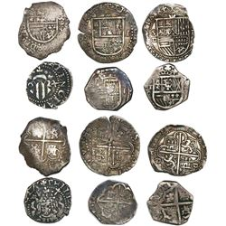 Lot of 6 Spain 1R, various kings and mints, some dated.