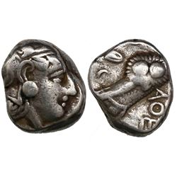 Attica, Athens, AR tetradrachm, middle mass-coinage issue, 440-404 BC, Athena / owl.