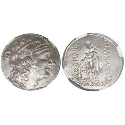 Celtic, Lower Danube, imitating Thasos, AR tetradrachm, 2nd-1st centuries BC, encapsulated NGC AU /
