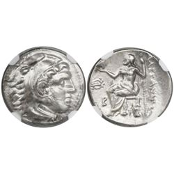"Kingdom of Macedon, AR drachm,  Alexander III (""the Great""), 336-323 BC, Magnesia mint, struck 318-3"