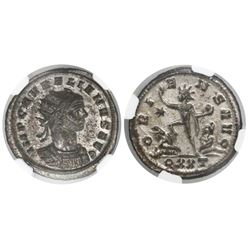 Roman Empire, billon aurelianus, Aurelian, 270-275 AD, encapsulated NGC MS / strike 5/5 and surface
