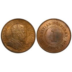 British Honduras, bronze 1 cent, Edward VII, 1904.