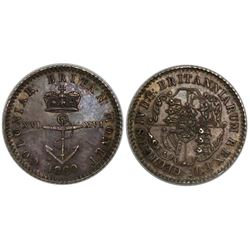 British West Indies, 1/16 dollar, George IV, 1820.