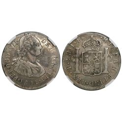 Popayan, Colombia, bust 2 reales, Ferdinand VII, 1813JF, encapsulated NGC VF Details / Scratches.