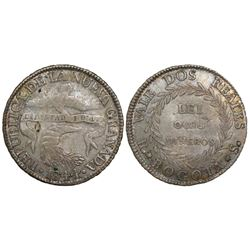Bogota, Colombia, 2 reales, 1844RS.
