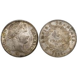 France (Paris mint), 5 francs, Napoleon I, 1811-A.