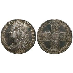 Great Britain (London, England), shilling, George II, 1745, with LIMA below bust.