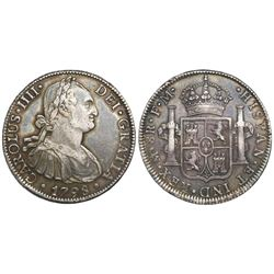 Mexico City, Mexico, bust 8 reales, Charles IV, 1798FM.