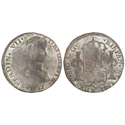 Zacatecas, Mexico, bust 8 reales, Ferdinand VII, 1817AG.