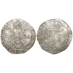 Brabant, Spanish Netherlands (Brussels mint), patagon, Philip IV, 1624.