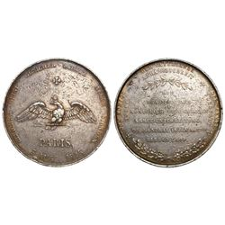 France, 5 francs-sized silver medal, 1815, Friedrich Wilhelm III birthday.