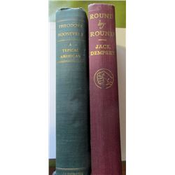 2 books: Theodore Roosevelt,  A Typical American, 1901, Charles Eugene Banks & Leroy Armstrong, Roun