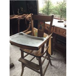 Oak/hardwood high chair