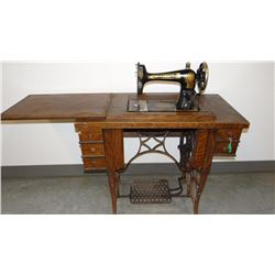 McCaskill sewing machine and cabinet, working