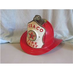 Texaco Fire chief toy helmet complete
