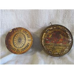 Mica axle grease tin & harness dressing can