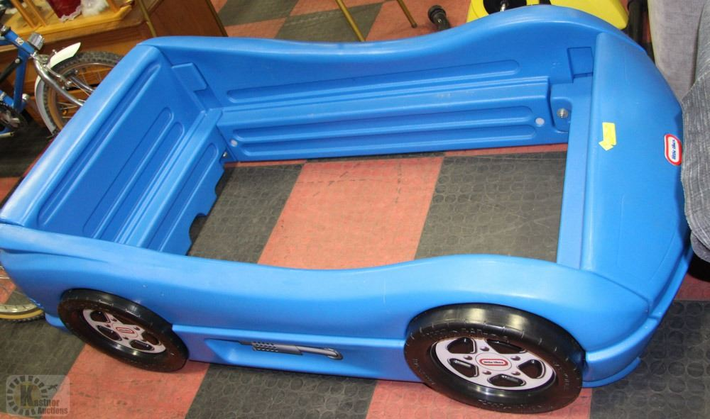 Little Tikes Blue Car Bed: LITTLE TIKES BLUE RACING CAR BED FRAME