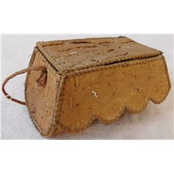 Old Birch Bark Basketry Box