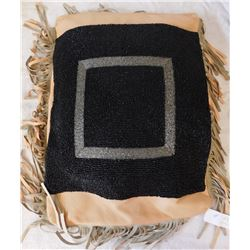Beaded Leather Pillow