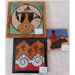 Set of 3 Ceramic Tiles
