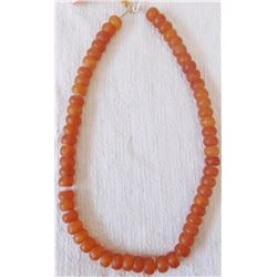 "16"" Strand of Amber Glass Beads"
