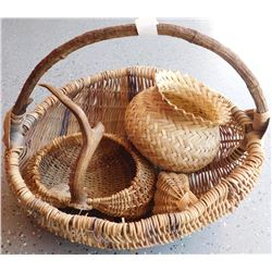 Large Basket of Tribal Baskets