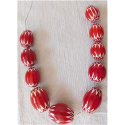 Rare Red Chevron Beads