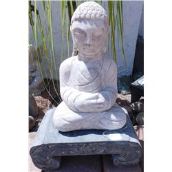 Stone Buddha on Stand