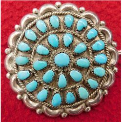 Zuni Sterling & Turquoise Pin or Pendant