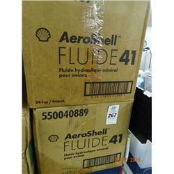 2 Cases of Aeroshell Mineral Hydraulic Aircraft Fl Oil