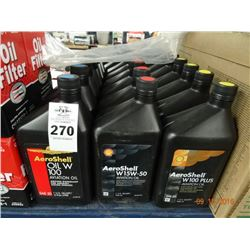 Lot of Aeroshell Oil W100 Aviation Oil