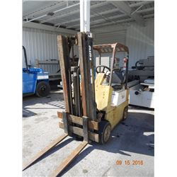 Yale 4K Lb. Capacity LP Forklift w/Triple Mast & Cushion Tires