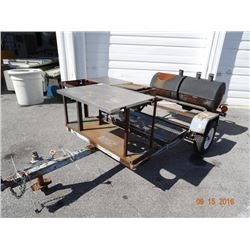 S/A Gas Smoker & Range Trailer