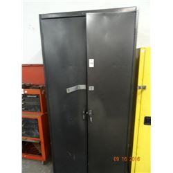 7' 2-Door Aluminum File Cabinet - Dented
