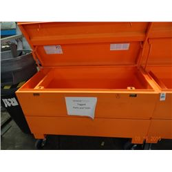 Orange Metal Rolling Tool Box