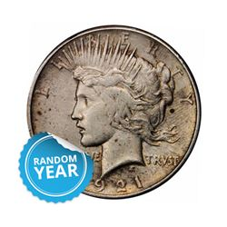 Common Date $1 Peace Silver Dollar VG+
