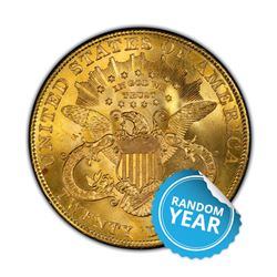 Common Date $20 Liberty Gold Double Eagle BU