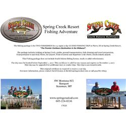 South Dakota - Spring Creek Outfitters Lodging & Fishing Lake Oahe
