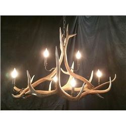 Elk Chandalier Fish's Antler Art