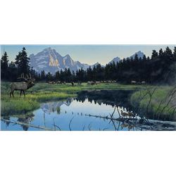 """Out of Africa in Montana Gallery """"The Wake Up Call"""" by Rod Frederick"""