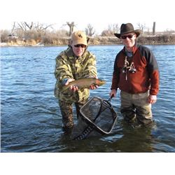 Montana- CATCH AND RELIEF- GUIDED FISHING TRIP ON THE BIG HORN RIVER FOR 2