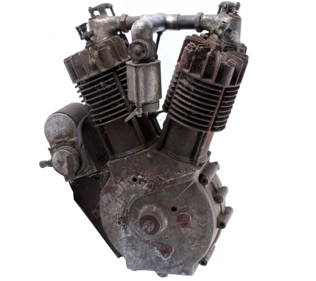 1913 Indian Hedstrom Hendee Twin 7hp Engine Rare