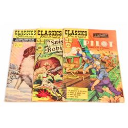 LOT OF 3 VINTAGE CLASSICS ILLUSTRATED COMIC BOOKS - 15 CENT COVERS