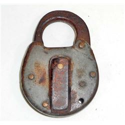 ANTIQUE CAST IRON LOCK - USA